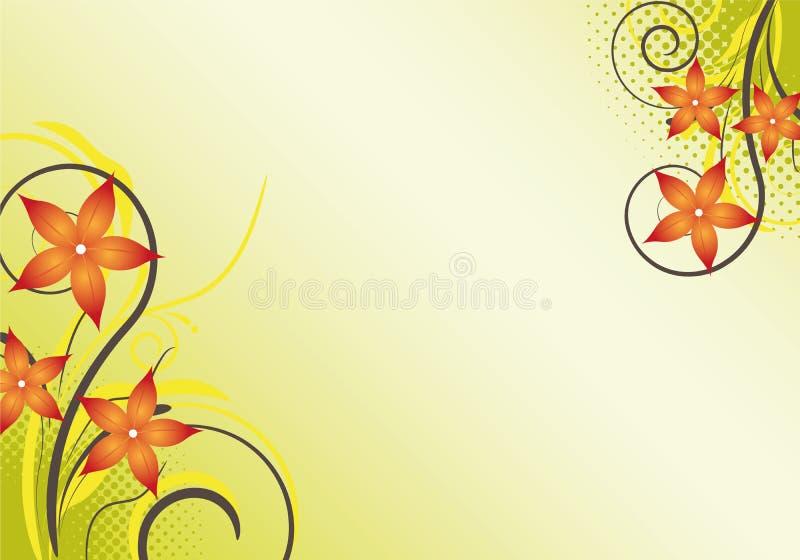 Abstract bloemenontwerp als achtergrond stock illustratie