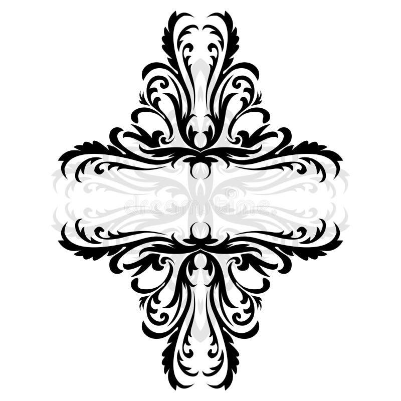 Abstract BloemenOrnament vector illustratie