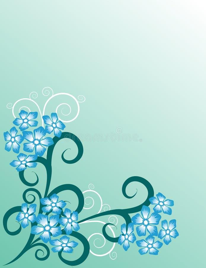 Abstract bloemenpatroon stock illustratie