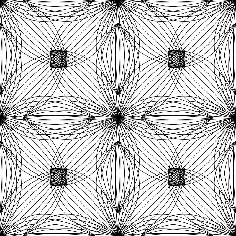 Abstract bloemenpatroon Ontwerpkaart Vector royalty-vrije illustratie