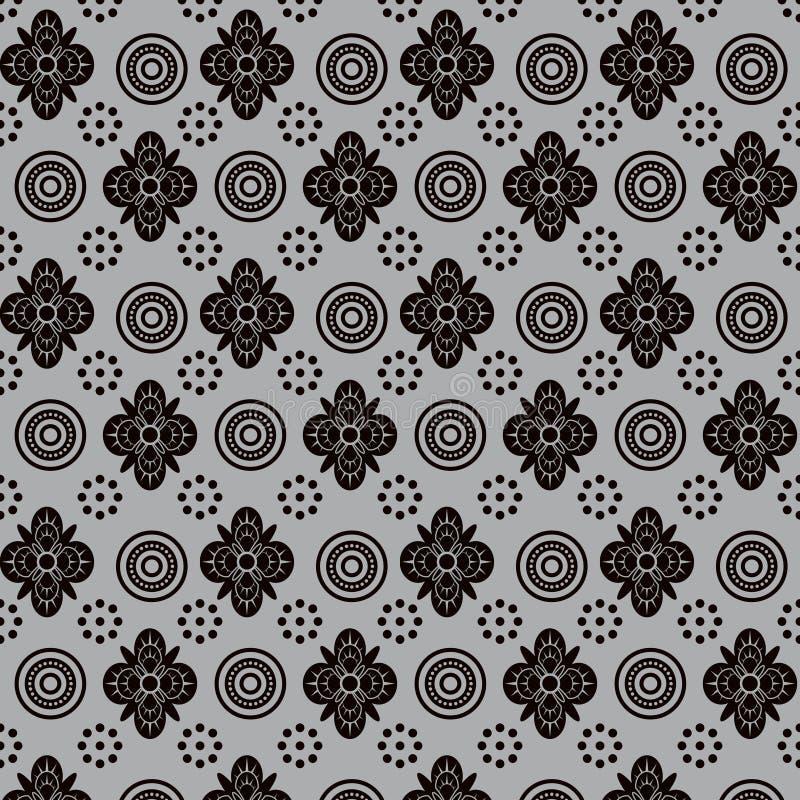 Abstract bloemenvormen naadloos patroon stock afbeelding