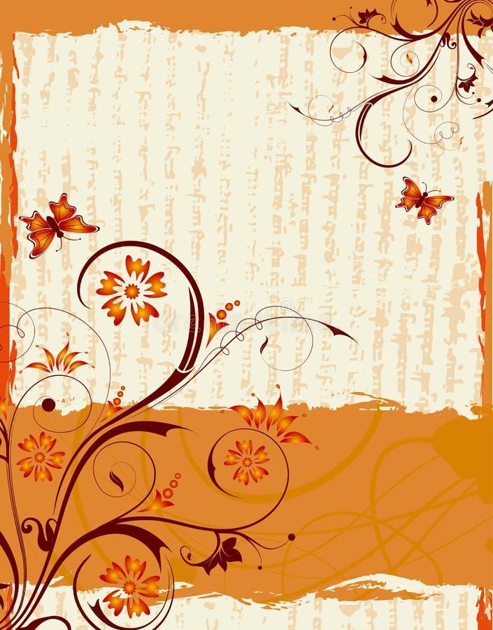 Abstract bloemframe stock illustratie