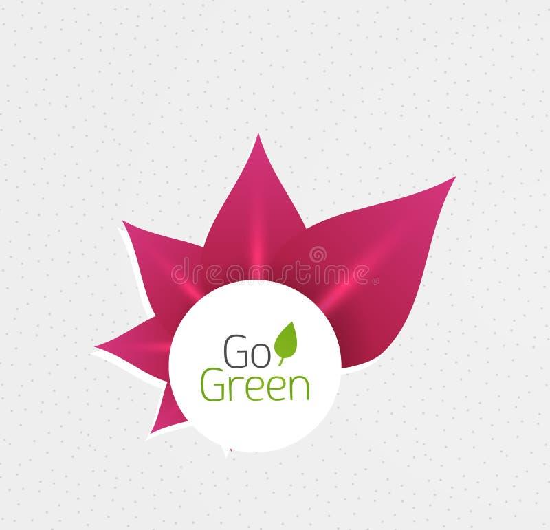 Download Abstract Bloemontwerp. Ga Groen Concept Vector Illustratie - Illustratie bestaande uit element, nave: 29501787