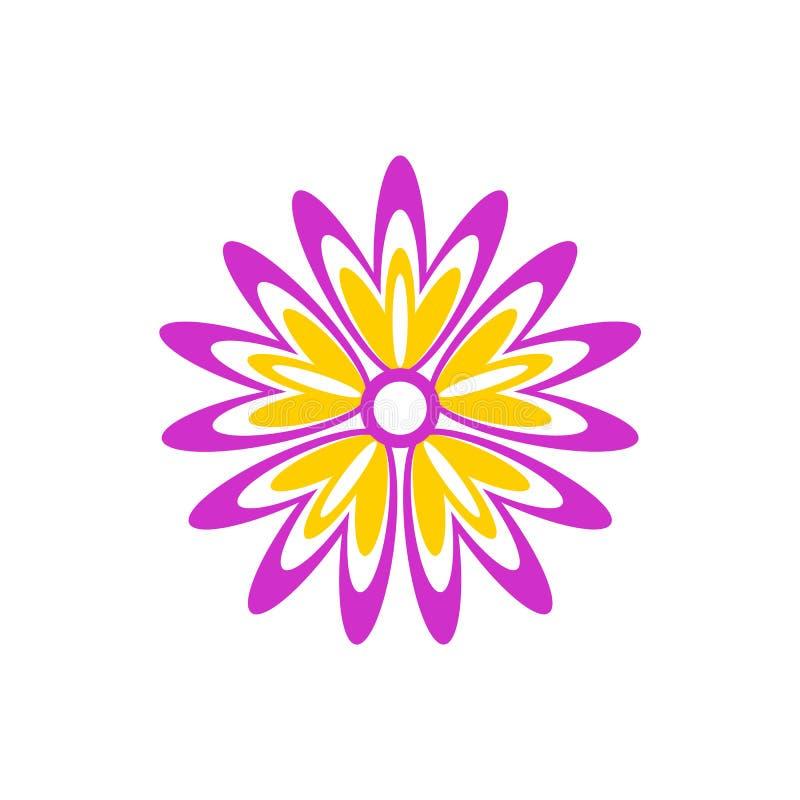 Abstract bloempictogram royalty-vrije stock afbeelding