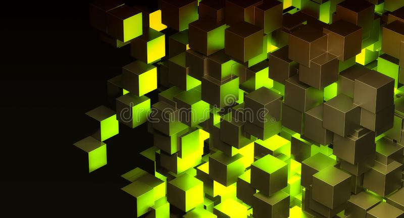Abstract blok groen licht royalty-vrije illustratie