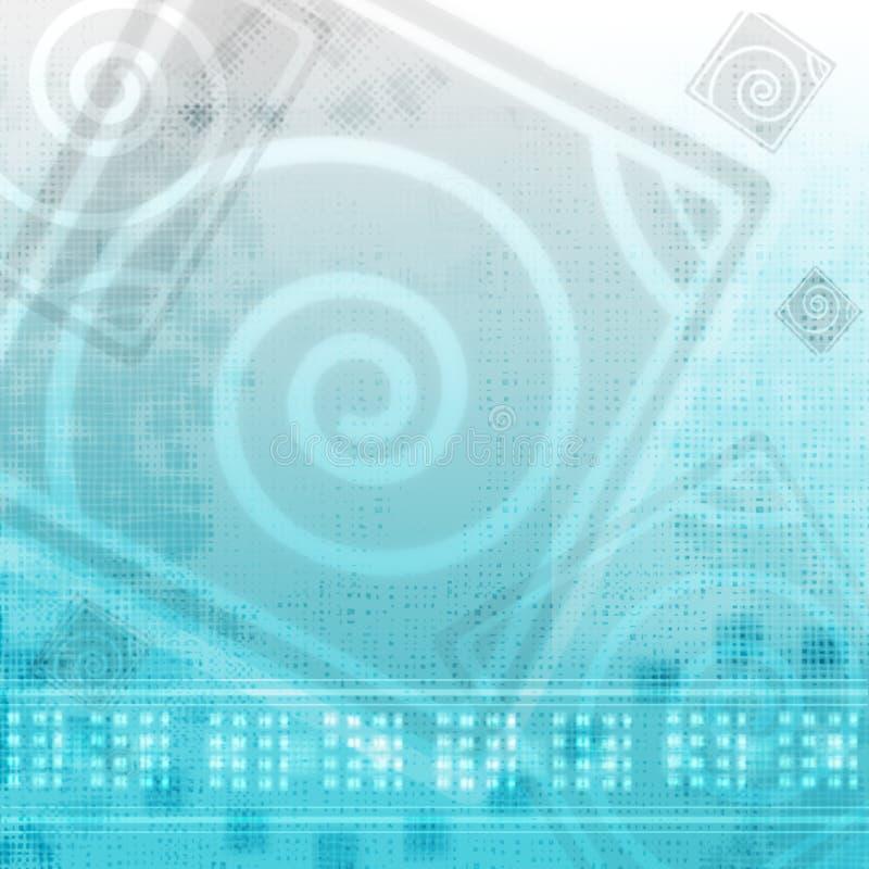 Abstract blue stock illustration