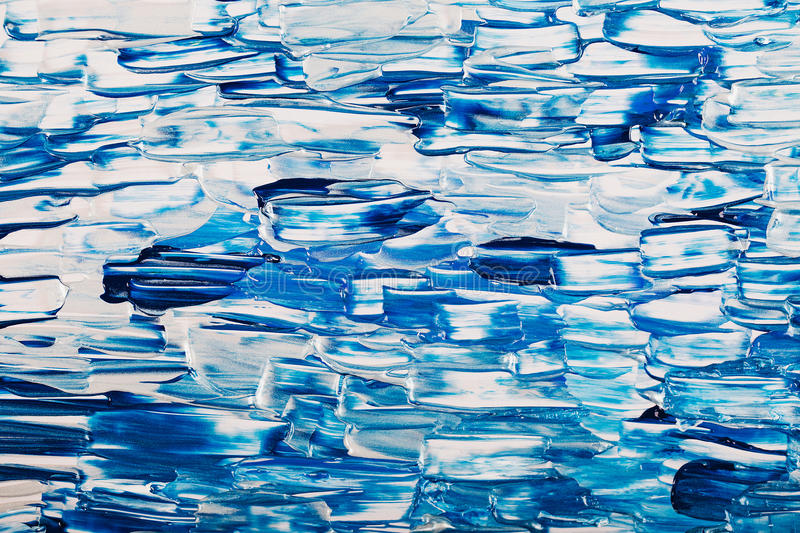 Abstract blue acrylic bright background stock image
