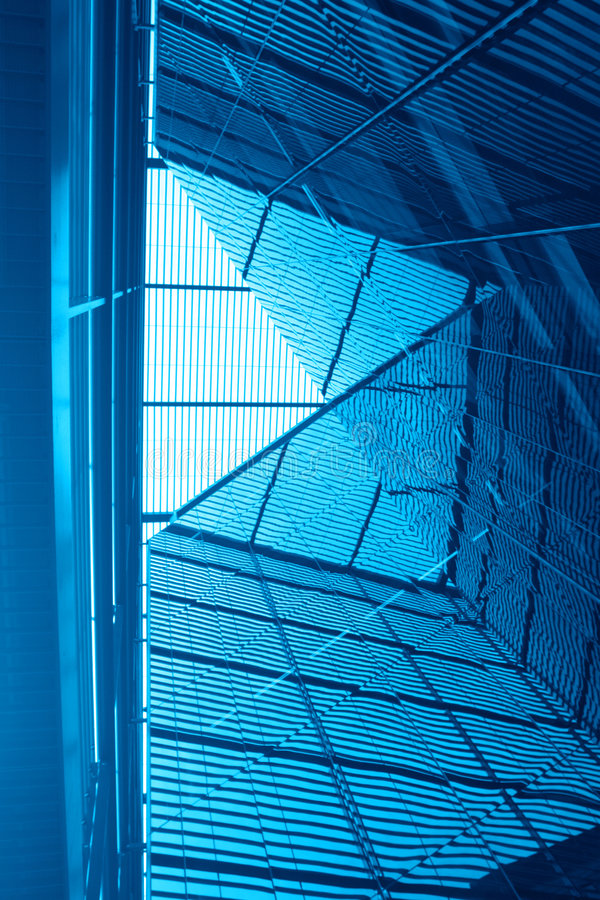 Abstract blue architecture stock photo