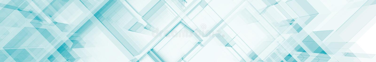 Abstract blue architecture 3d rendering vector illustration