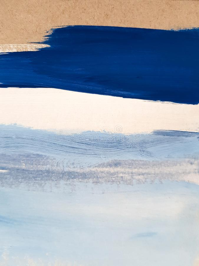 Free Abstract Blue Art Painting Background. Stock Photography - 144803592