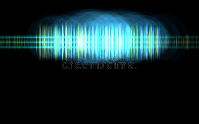 Abstract blue audio spectrum waveform vector illustration
