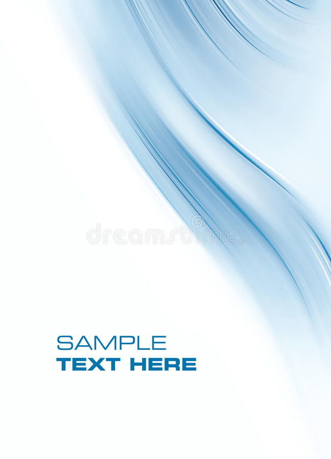Abstract blue background. Space for text isolated on white