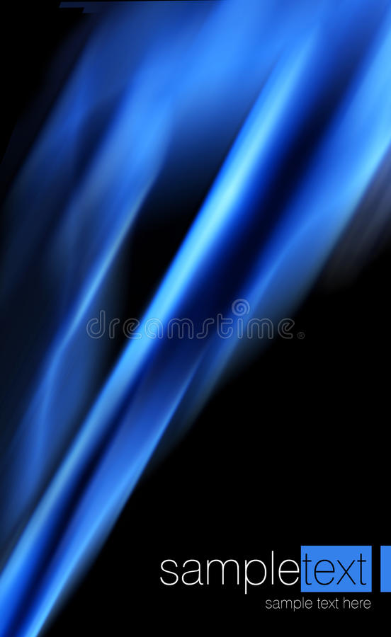 Abstract blue background. Abstract blue fire on black background royalty free illustration