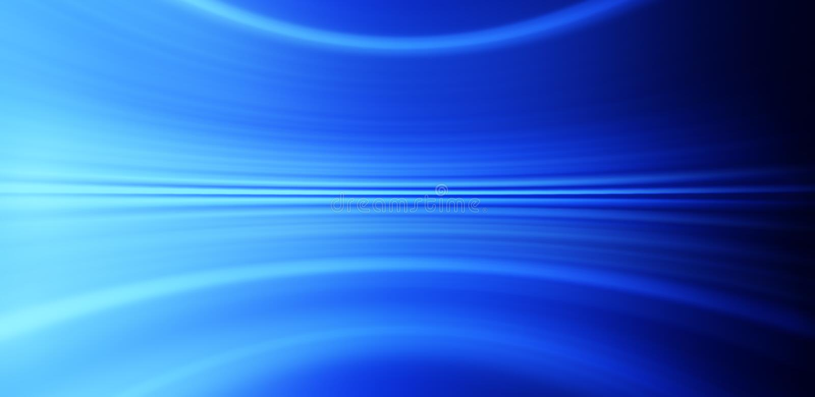 Abstract Blue Banner Background. A panorama abstract blue background with a curving or bending feel