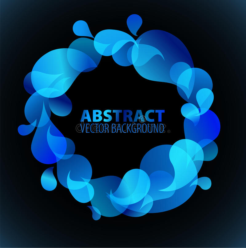 Download Abstract blue background stock illustration. Image of orange - 14856960