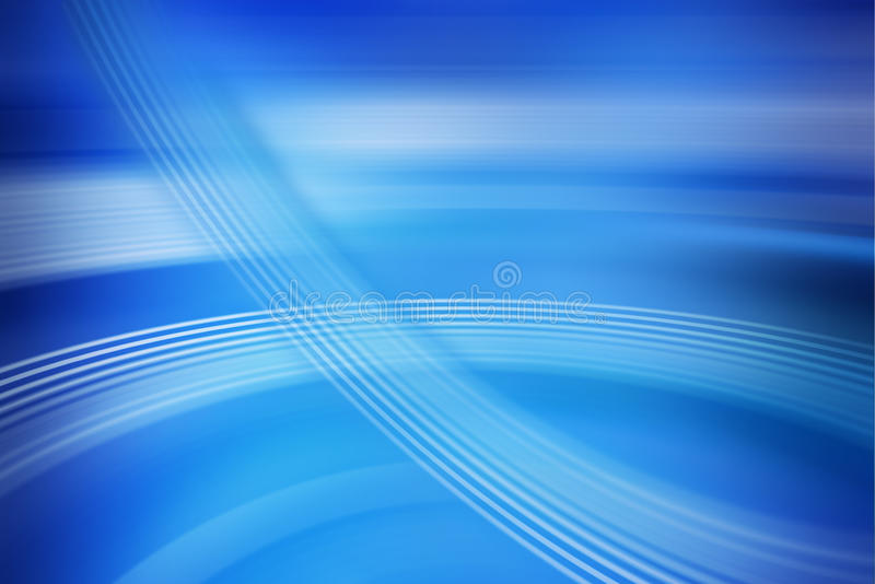 Abstract Blue Background. An abstract blue background with a feeling of movement of computer information stock photo