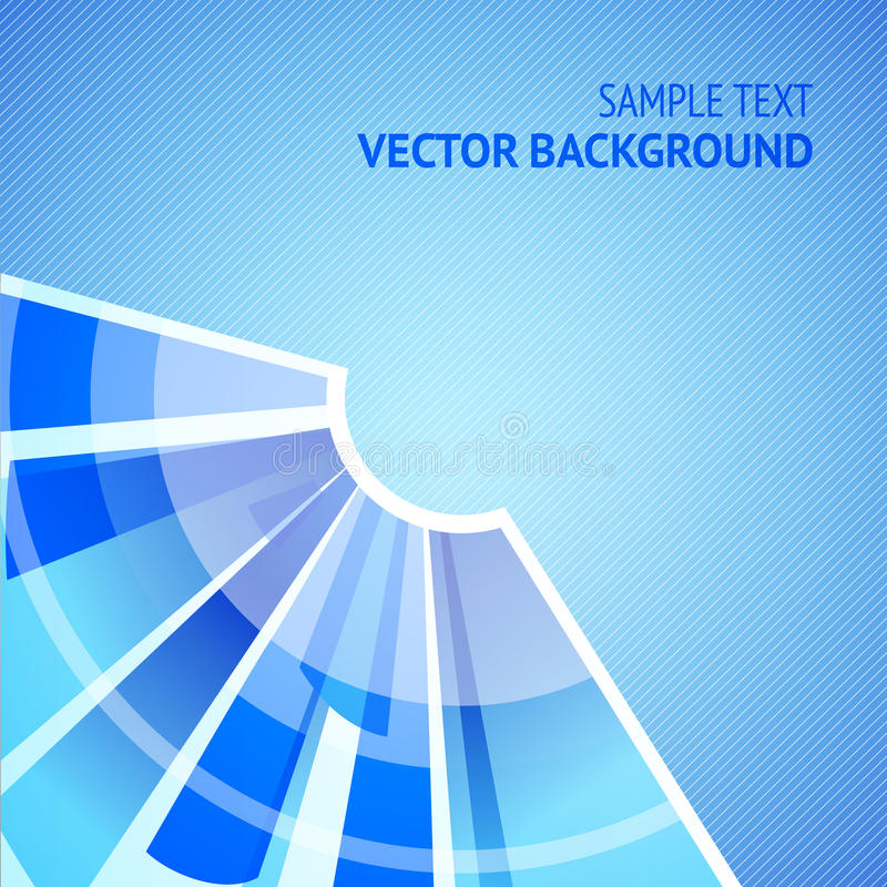 Abstract blue background. Radial segments. Vector Illustration royalty free illustration