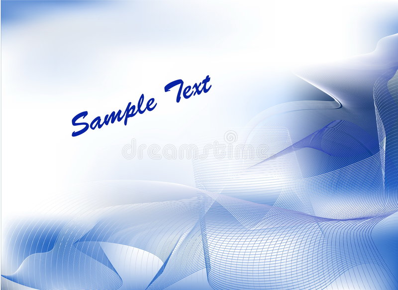 Abstract blue background. With smoke vector illustration
