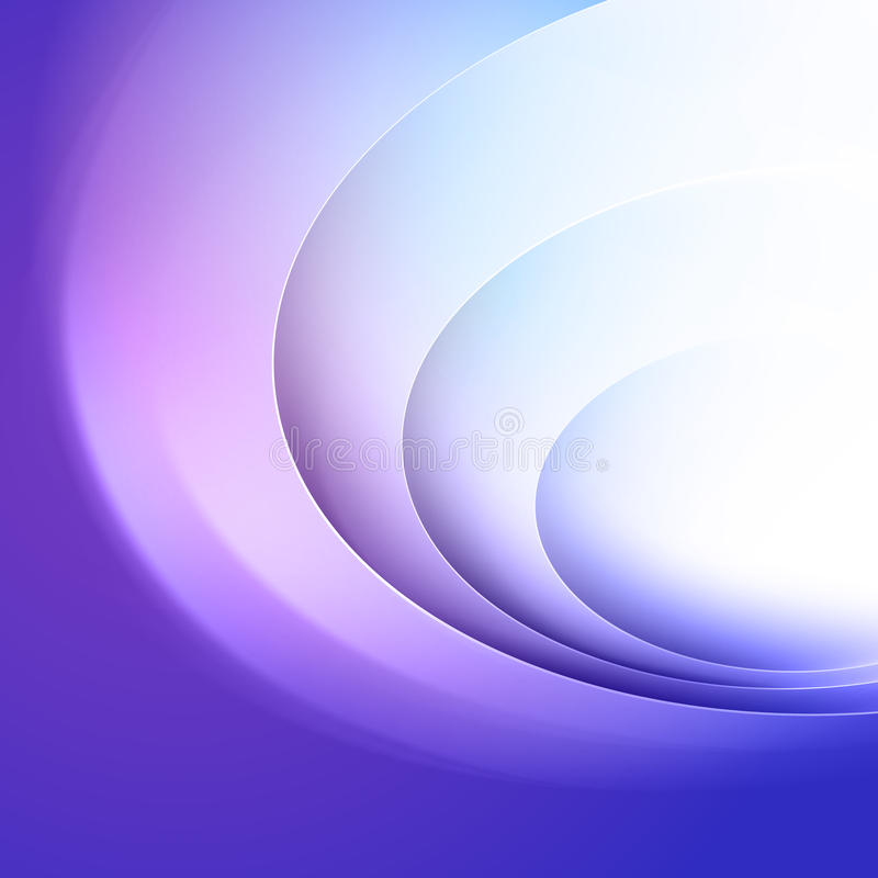 Abstract blue background. With circle light lines vector illustration