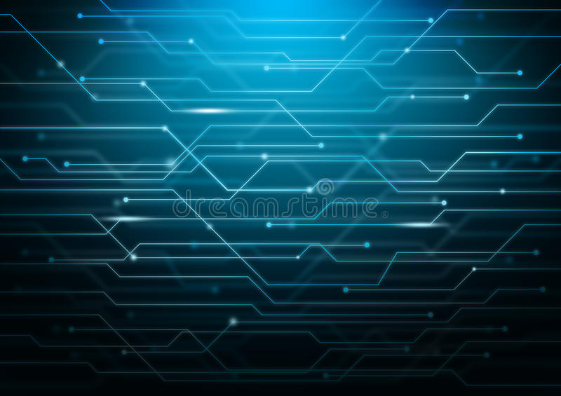 download abstract blue background with circuit board theme stock illustration illustration of computer line