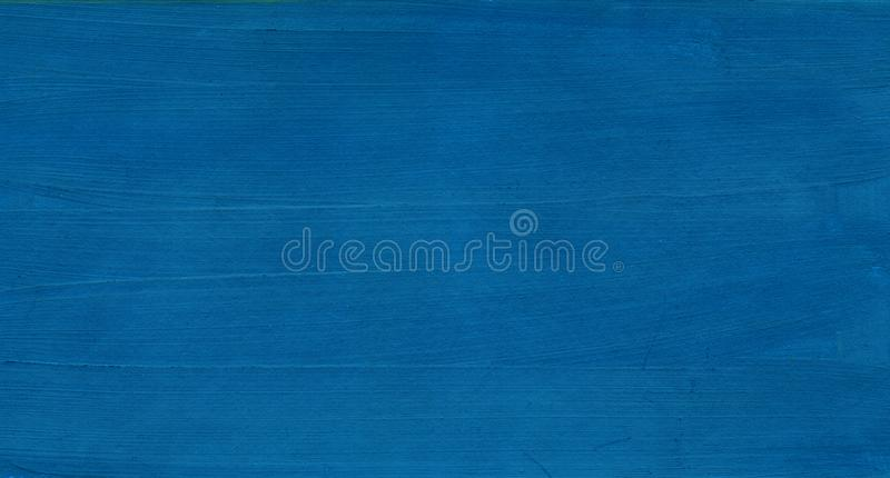 Abstract blue background. Dark sky sea with wave. Texture of a paint on paper Hand drawn illustration royalty free stock photo