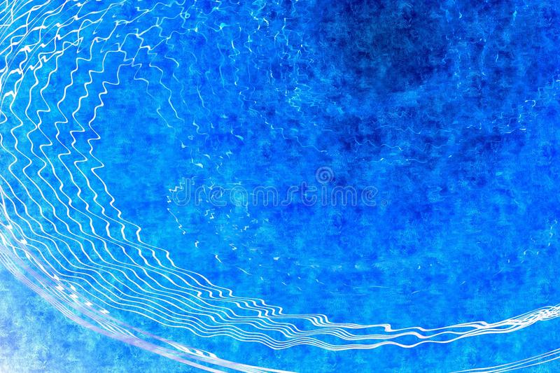 Abstract blue background. Abstract blue grunge background with waves royalty free stock image