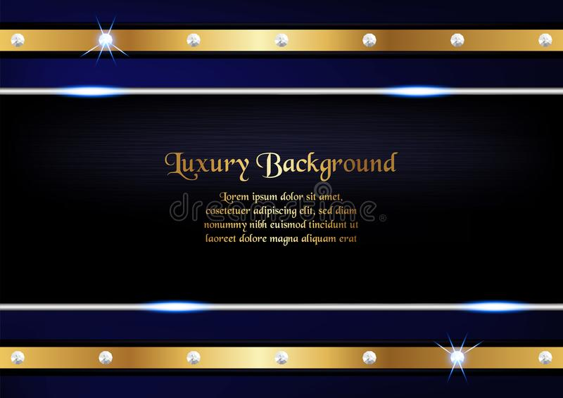 Abstract blue background in premium concept with copy space.Template design for cover, business presentation, web banner, wedding royalty free illustration