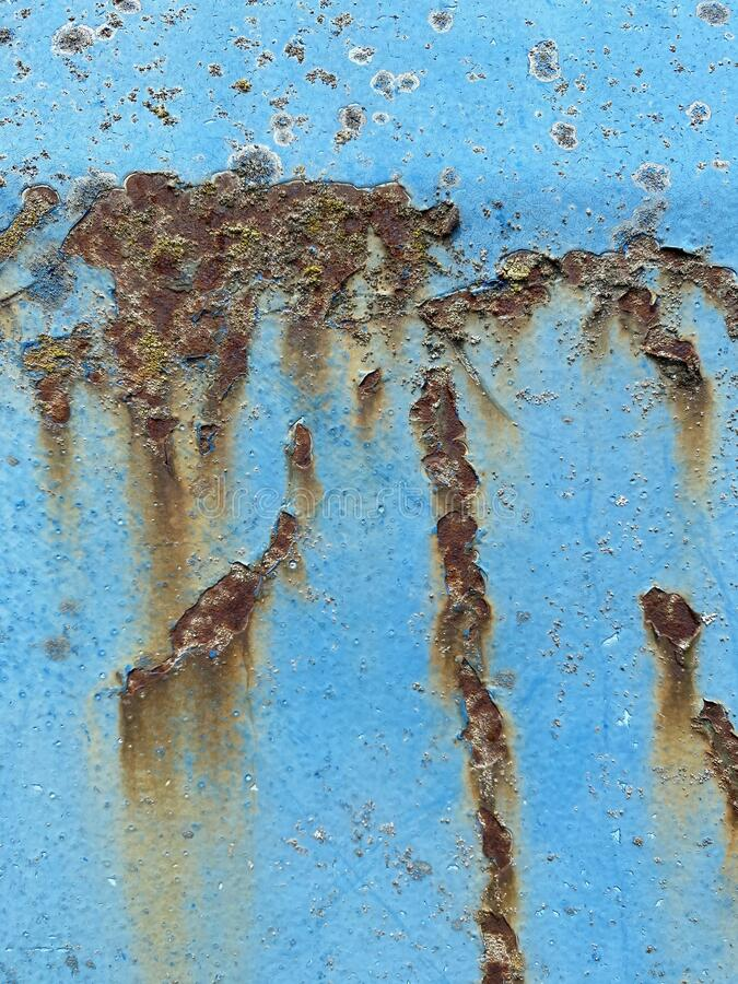 Abstract blue background with rust. royalty free stock photo