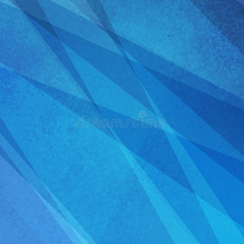 Abstract blue background with shapes and texture, triangles and stripes of light and dark blue color in modern style royalty free stock photography