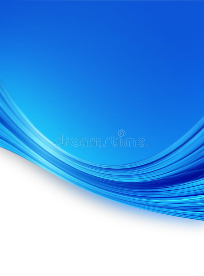 Abstract blue background. With smooth lines royalty free illustration