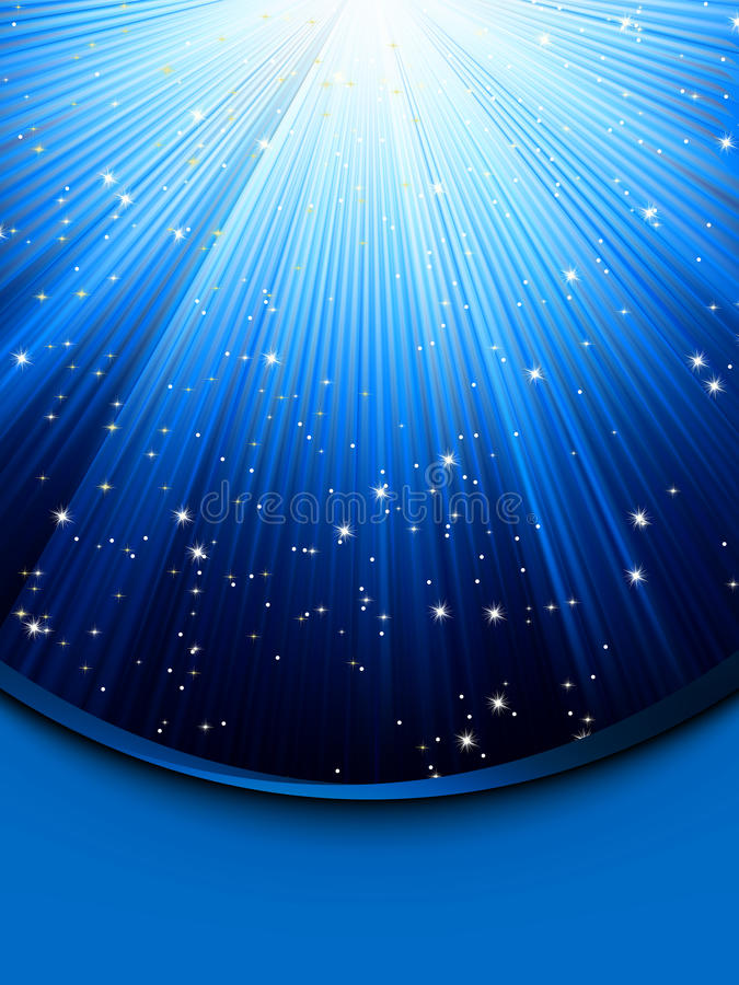 Abstract blue background with stars. EPS 8