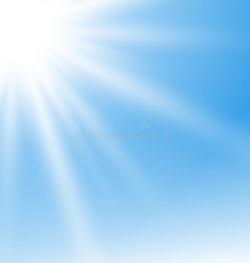 Abstract Blue Background with Sun Rays royalty free illustration