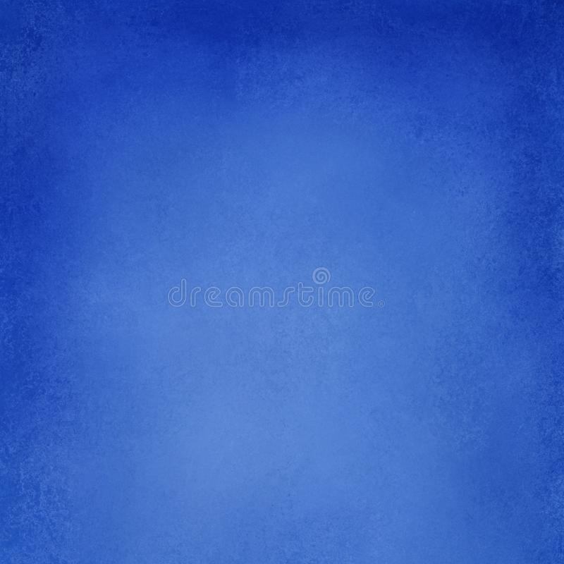 Abstract blue background texture, solid bright blue vintage paper illustration with textured paint grung royalty free illustration