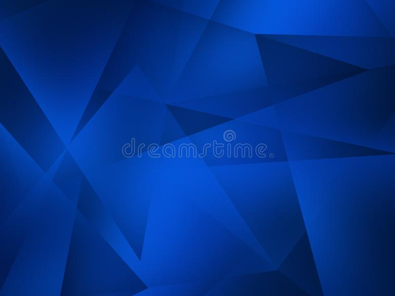 Abstract blue background with transparent triangle layers in random pattern. Beautiful  Abstract blue background with transparent triangle layers in random stock illustration