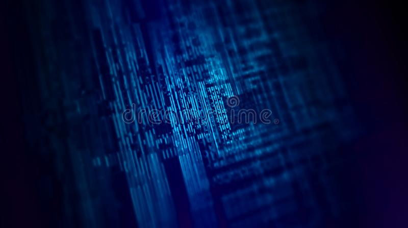 Abstract blue background for use in computers, information or data illustrations stock illustration