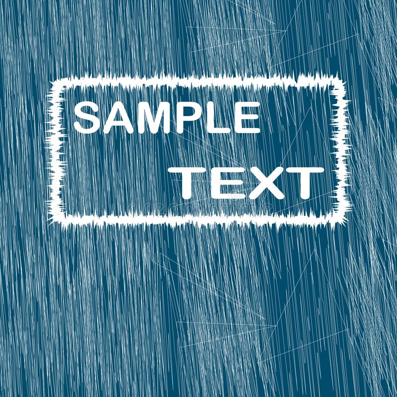 Abstract blue background with white strokes and insert for text vector illustration