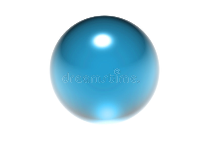 Abstract blue ball royalty free stock photography