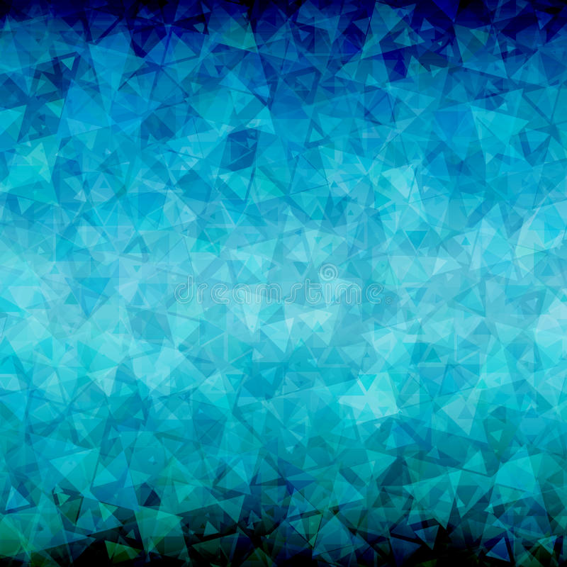 Abstract Blue Black Triangle Background Stock Vector
