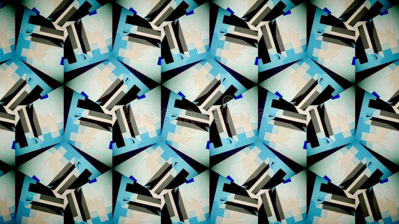 Abstract blue black white orange shine color wallpaper stock photography