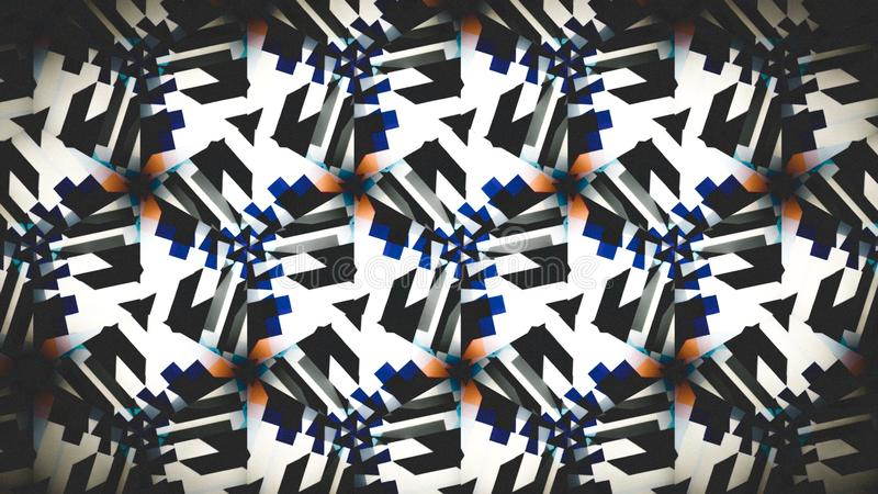 Abstract blue black white orange shine color wallpaper stock photo