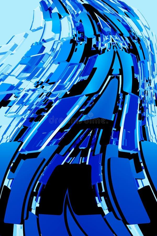 Download Abstract Blue Blocks stock illustration. Illustration of wavy - 25959565