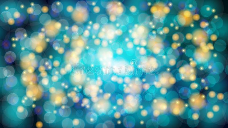 Abstract blue blurred background with bokeh effect. Magical bright festive multicolored beautiful glowing shiny with light spots royalty free illustration