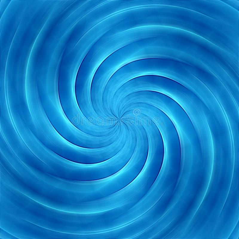Abstract blue vortex background or backdrop royalty free illustration
