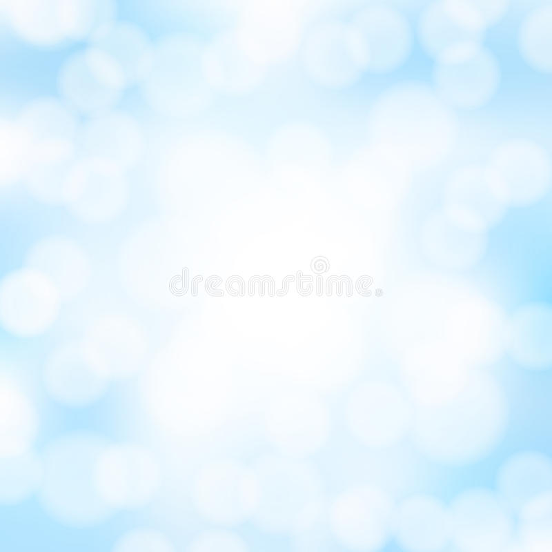 Abstract blue bokeh background vector illustration