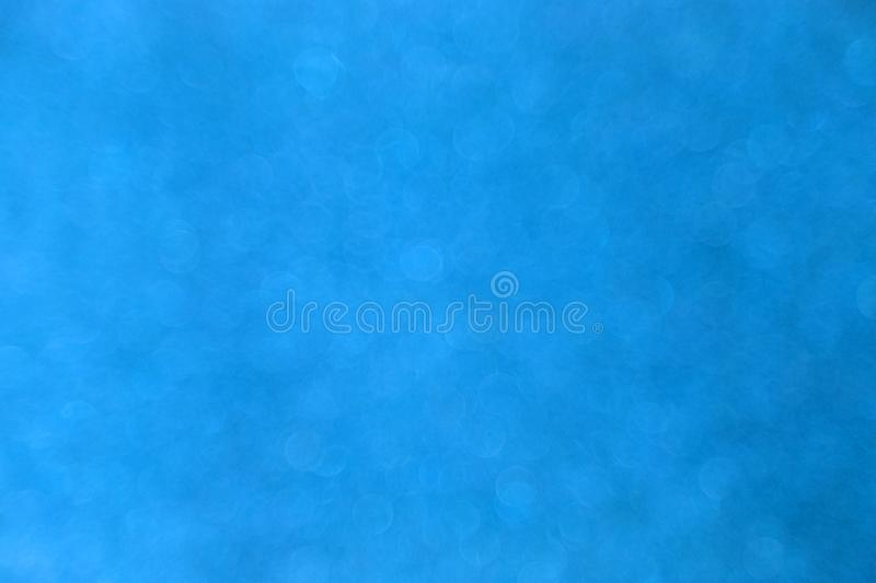 Abstract blue bokeh background for christmas, Celebration concept. royalty free stock photo