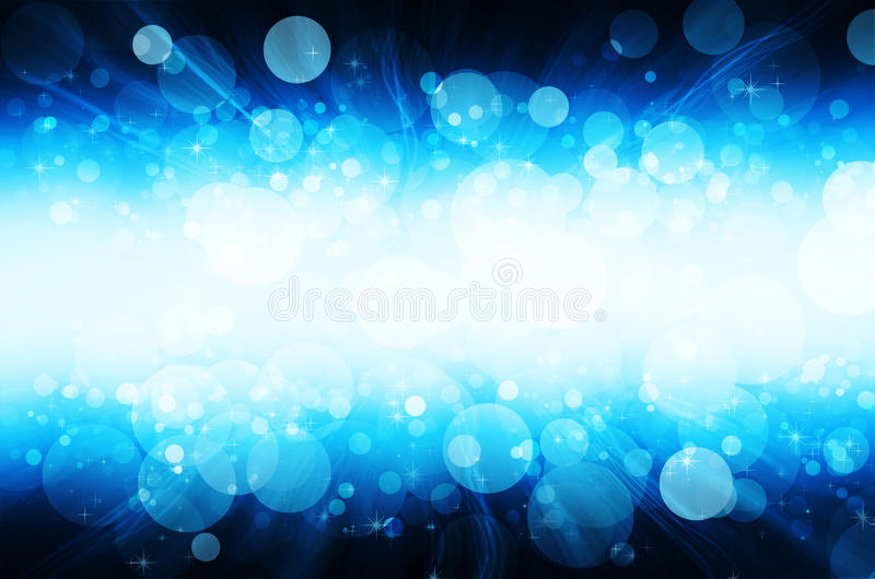 Abstract blue bokeh background royalty free stock images