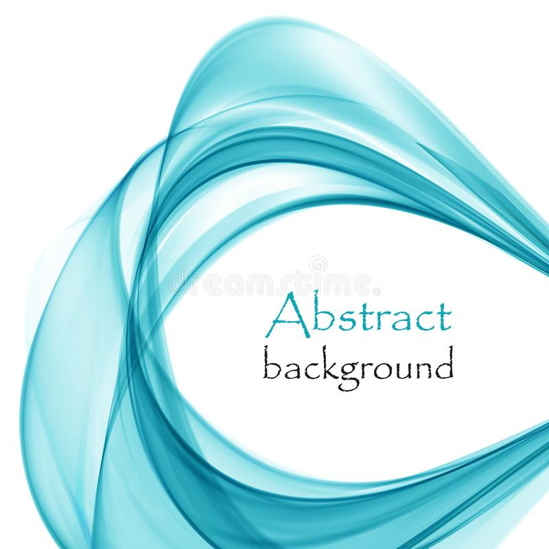 Abstract blue bright waves on a white background. Abstract bright blue waves on a white background royalty free illustration