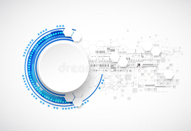 Abstract blue business science or technology background vector illustration