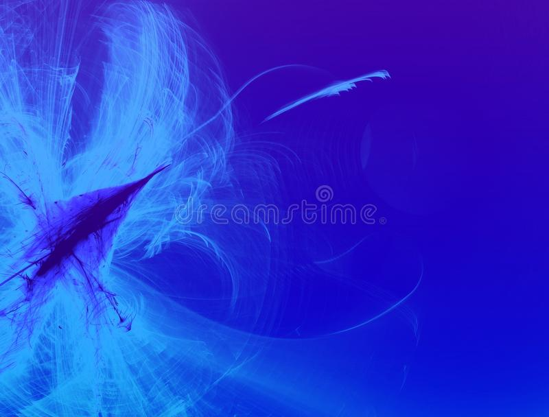 Abstract Blue Cloud Trails Background stock photo