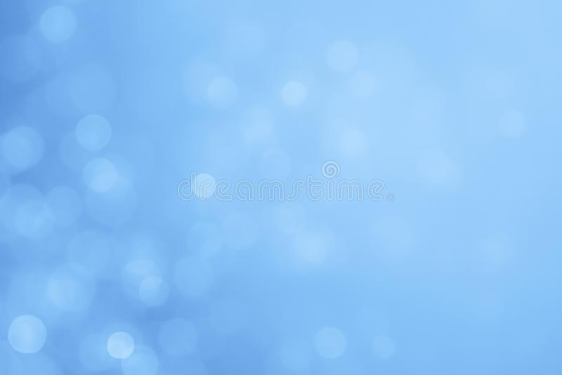 Abstract bokeh background. Abstract blue color bokeh background stock image
